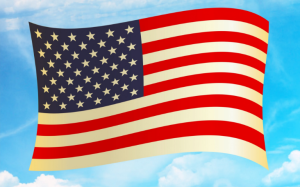 american flag waving for good military credit